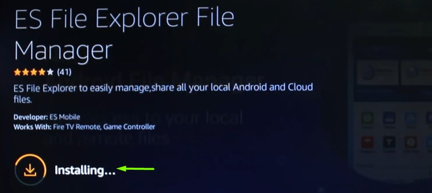 es file explorer on firestick