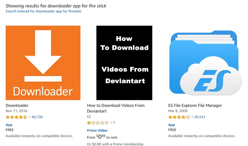 downloader app on amazon firestick
