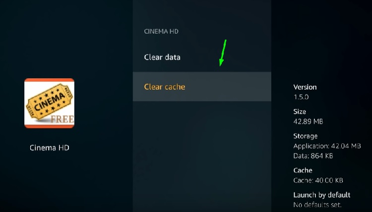 how to clear cache on firestick