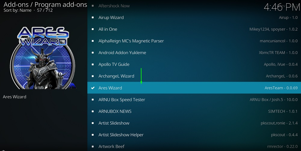 how to get ares wizard on kodi