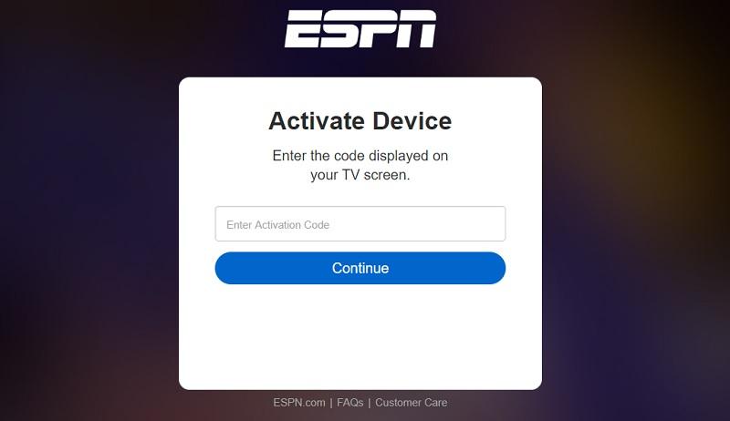 activate espn on firestick