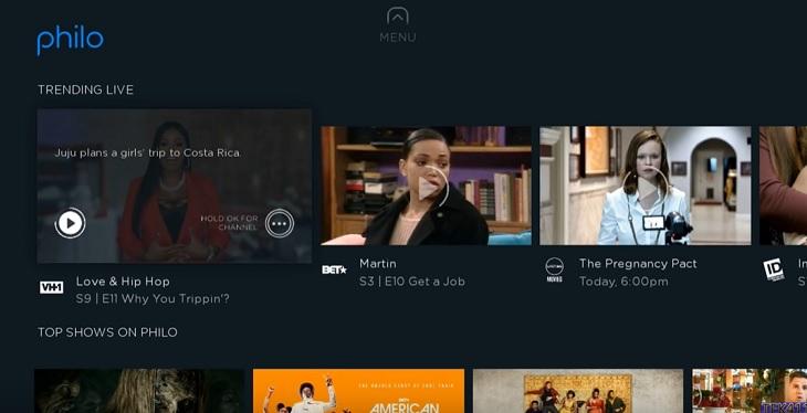 download Philo TV app on Firestick