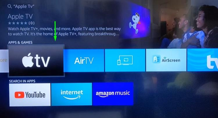 Apple TV on Fire TV stick