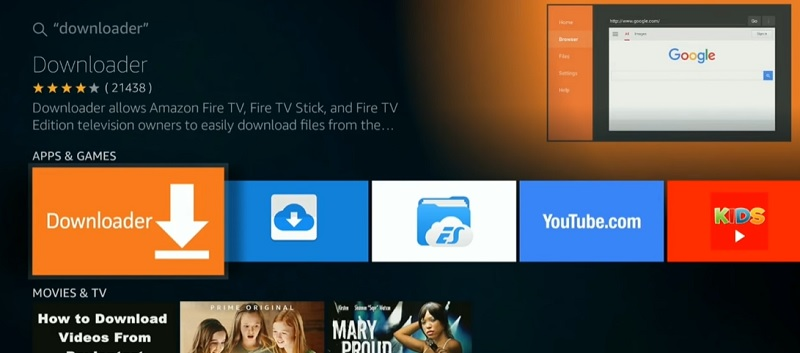 install Cinema HD on Fire TV via downloader
