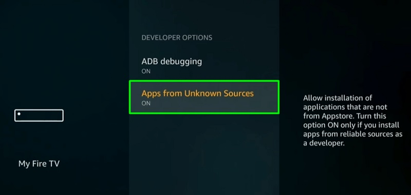 apps from unknown sources