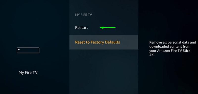 restart fire stick