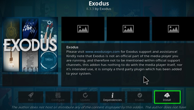install exodus on kodi