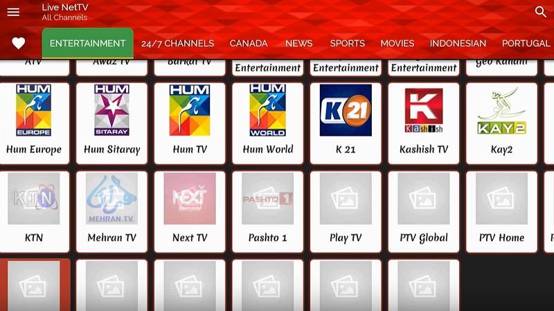 watch Live Net TV on Amazon fire TV