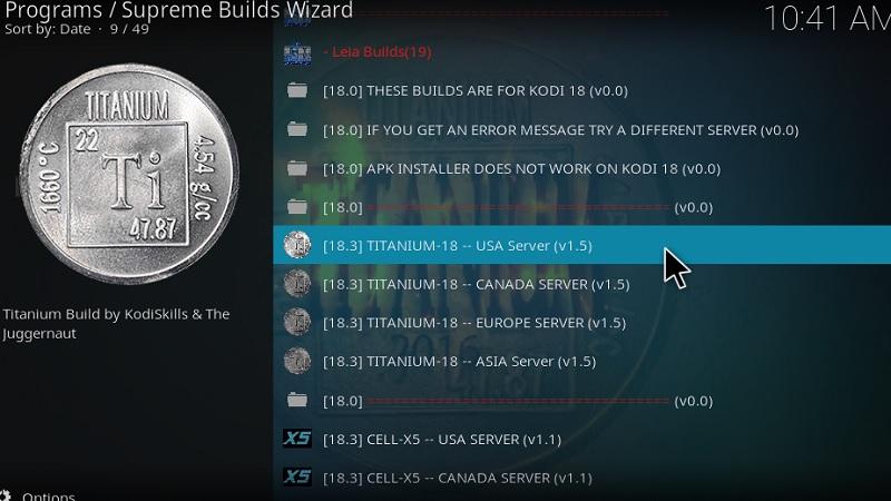 kodi titanium build