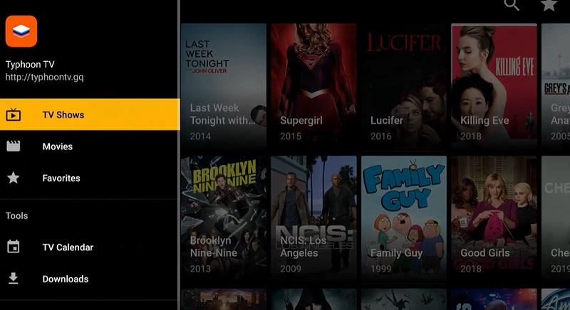 Typhoon TV app on Firestick