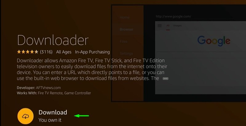 Install ThopTV on FireStick