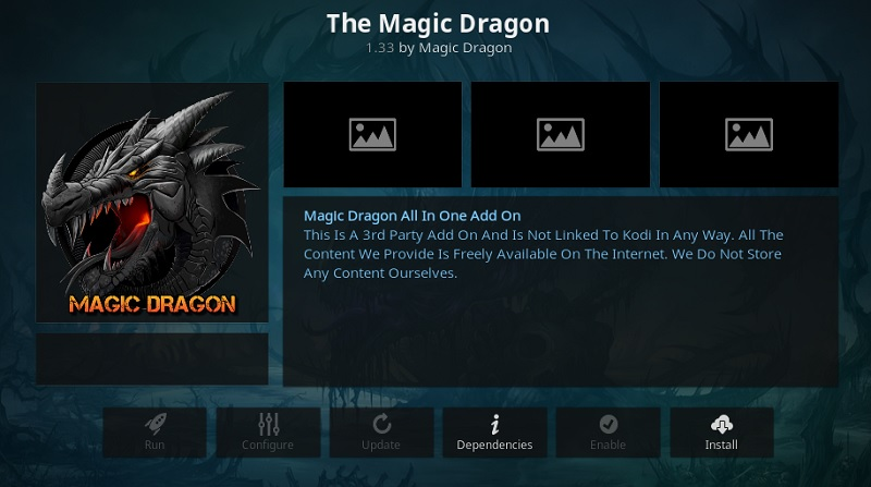 install magic dragon kodi add-on