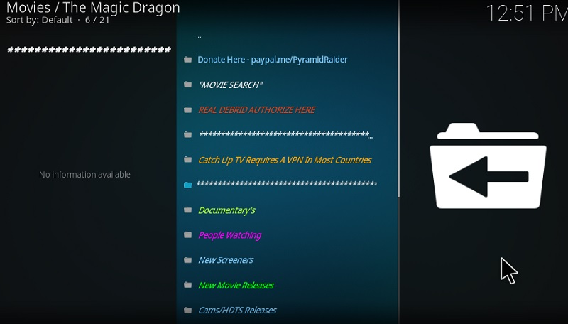 how to use magic dragon addon