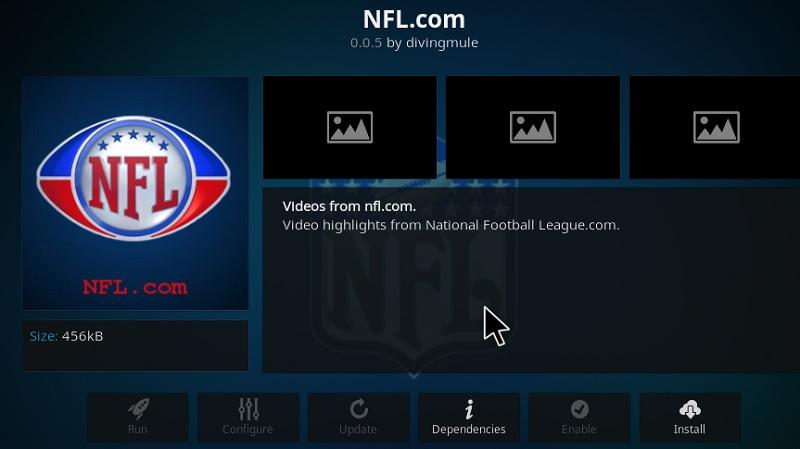 NFL kodi addon