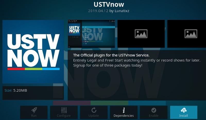 USTVnow addon