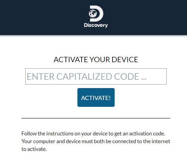 Activate Discovery GO On Firestick