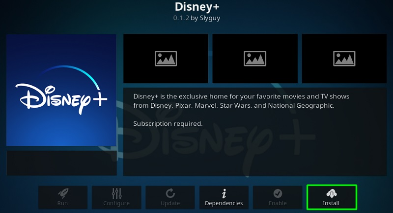 Install Disney Plus Kodi Addon