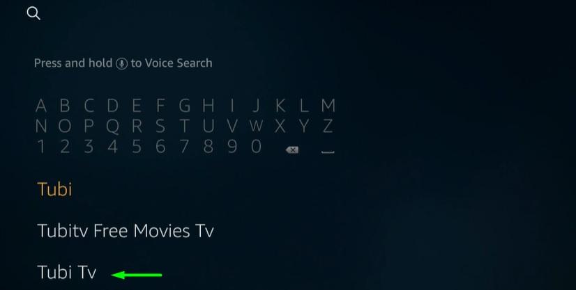 Install Tubi TV on Firestick