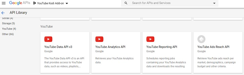 YouTube Data API v3